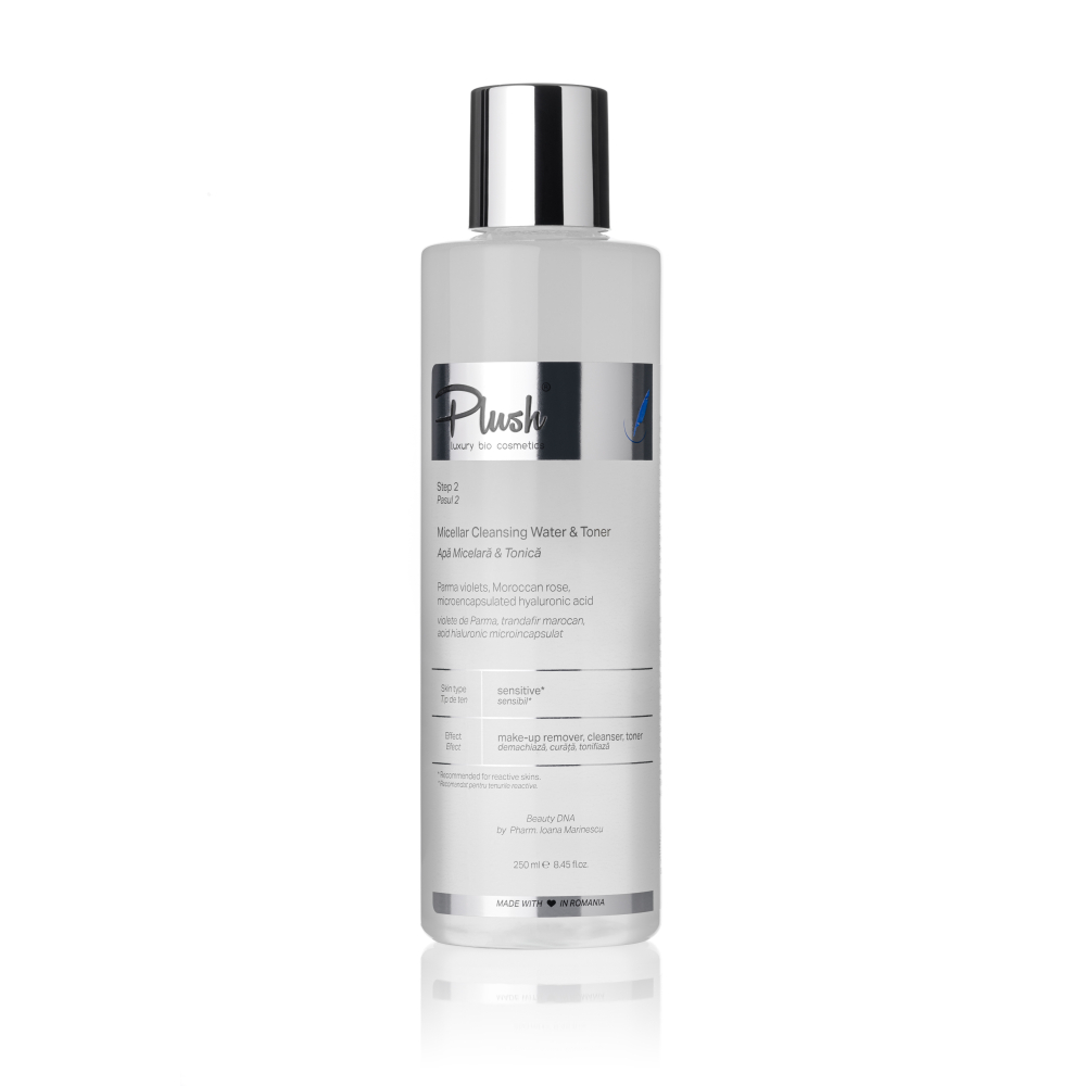 Micellar & Tonic water with violets of Parma hyaluronic acid microencapsulated and Moroccan rose - 250 ml