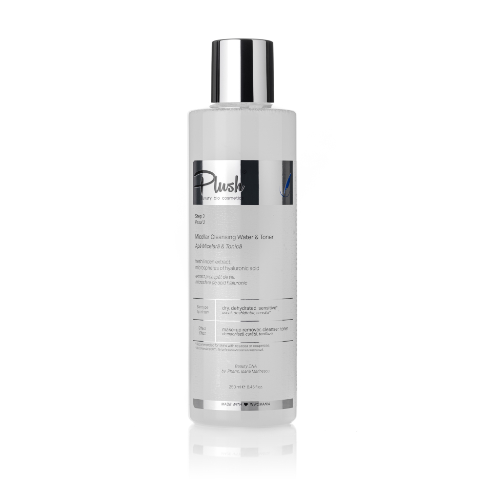 Micellar & Tonic water with fresh linden extract and hyaluronic acid microspheres, 250 ml